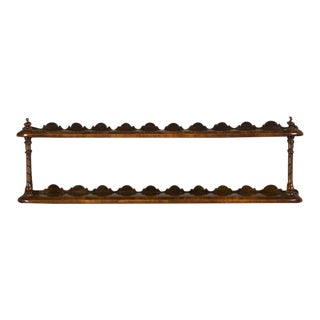 William IV Period Antique English Walnut Hanging Shelf circa 1835