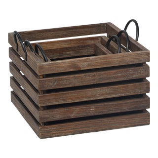 Reclaimed Wood Crates (Set of Three)