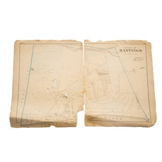 Antique Hastings NY Westchester Map