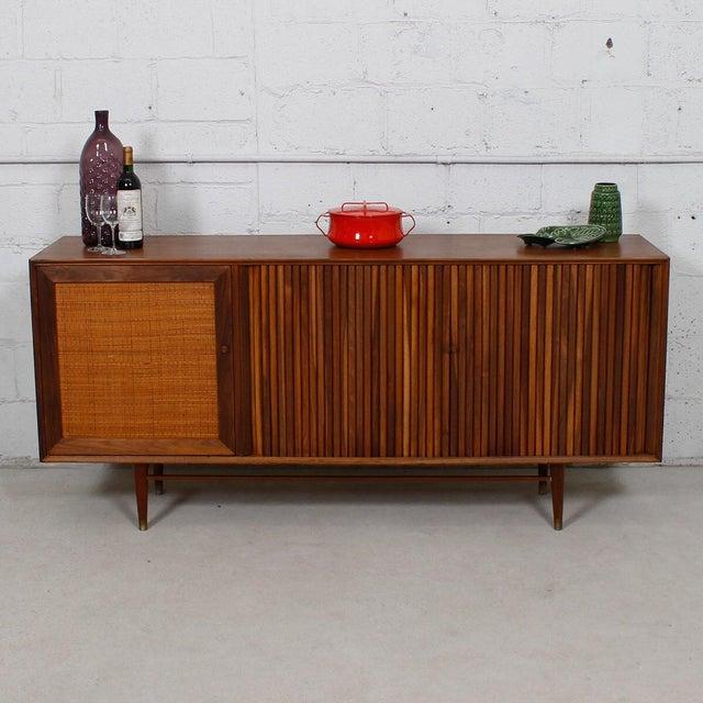 Mid-Century American Modern Walnut Sideboard & Dry Bar - Image 9 of 11