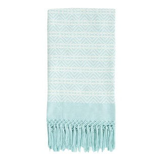 Blue Handwoven Mexican Throw