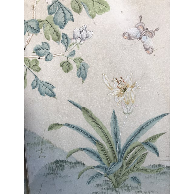 Gracie Chinoiserie 4 Panel Wallpaper Screen - Image 5 of 11