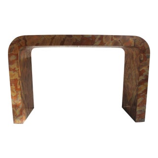 Paul Evans Style Waterfall Copper Console Table