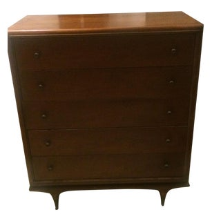 "Mid-Century Modern Kent Coffey ""The Continental"" Highboy Dresser"