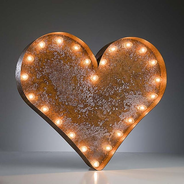 "Image of 24"" Vintage Marquee Heart Light"