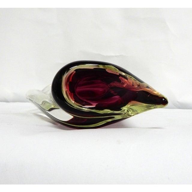 Image of Elegant Hand Blown Murano Glass Vase