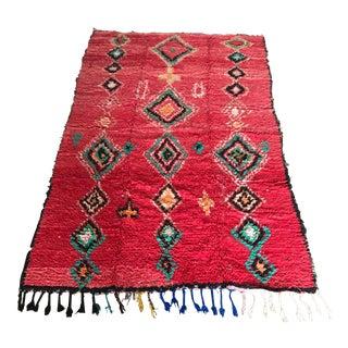 """Vintage Moroccan Boujad Rug - 4'11' X 7'7"""""""