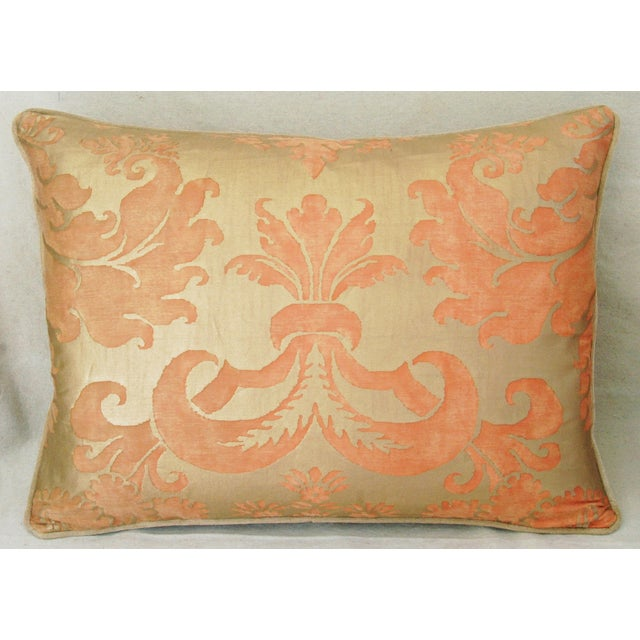 Italian Fortuny Glicine Gold Pillows - Pair - Image 4 of 11
