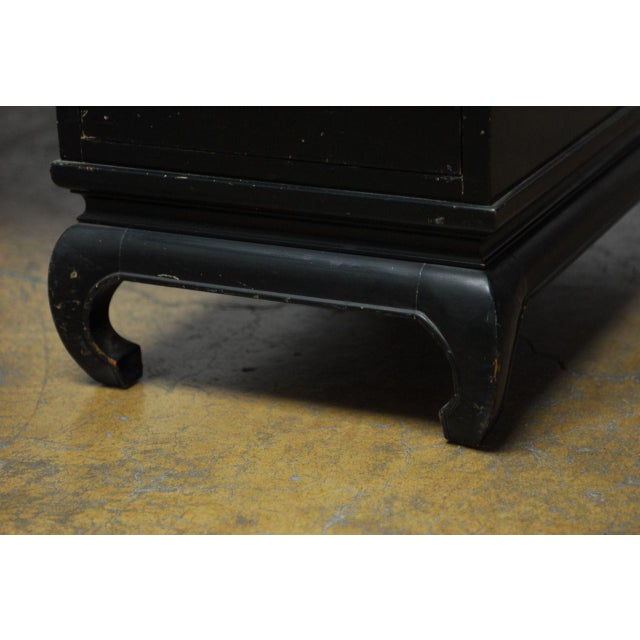 Image of Mid-Century James Mont Style Asian Lacquered Desk