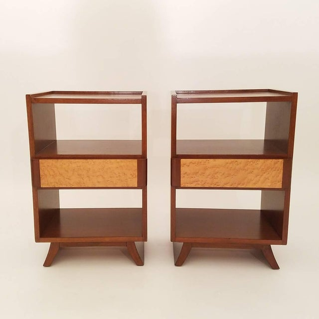 Eliel saarinen for rway furniture nightstands a pair for Eliel saarinen furniture