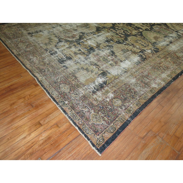 Distressed Persian Sultanabad Rug - 8'7'' x 11'9'' - Image 5 of 10