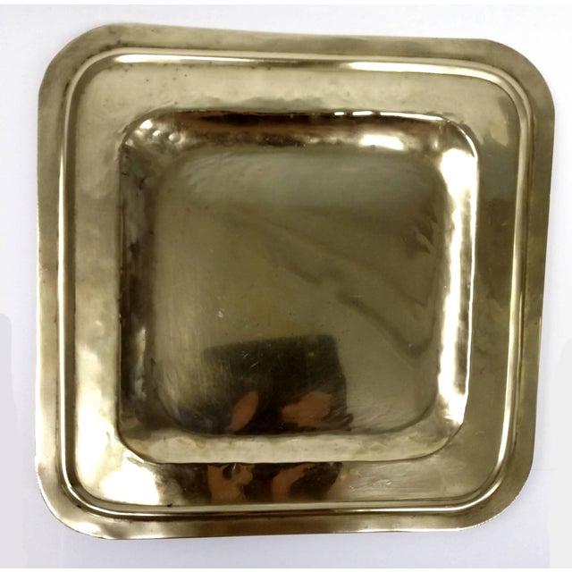 Vintage Square Brass Platter - Image 2 of 7