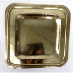 Image of Vintage Square Brass Platter