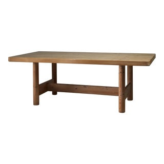 Large Pine Dining Table by Danish Architects Friis & Moltke, 1950s