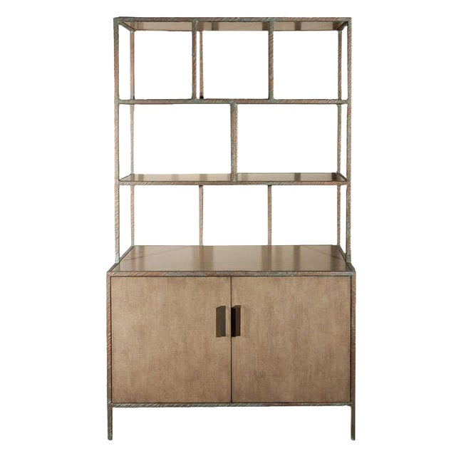 Image of Paul Marra Bookcase in Faux Bronze