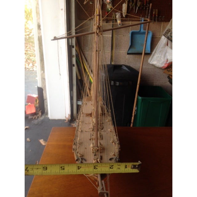 Wood Model Boat - Image 7 of 10