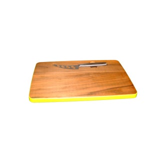 Magnetic Walnut Cutting Board With Knife