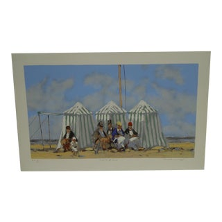 "Frederick McDuff ""Tents on the Beach"" Limited Edition Print"