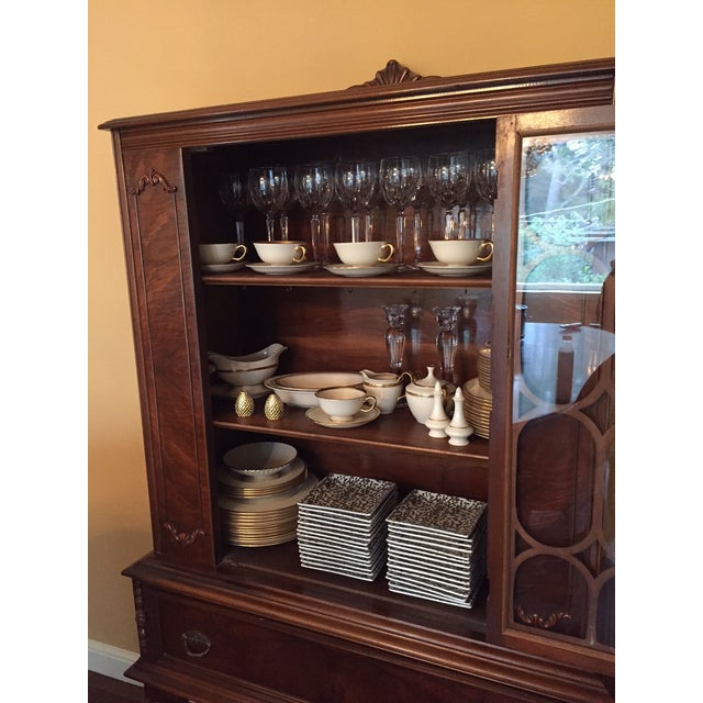 Traditional Solid Wood Hutch - Image 4 of 4