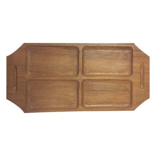 Danish Modern Teak Wood Serving Tray