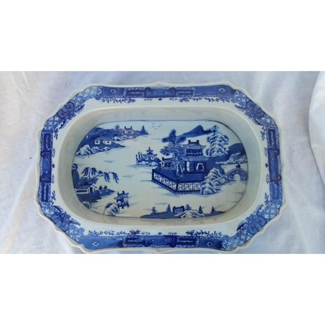 Chinese Filigree Porcelain Serving Platter - Image 2 of 6