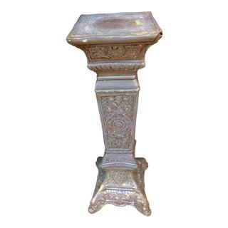 Victorian Gray & Wax Pedestal
