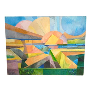 """Chester Dixon Snowden Abstract """"Interstitial Existence"""" Painting"""