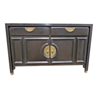 Century Furniture Vintage East Asian Style Black Credenza