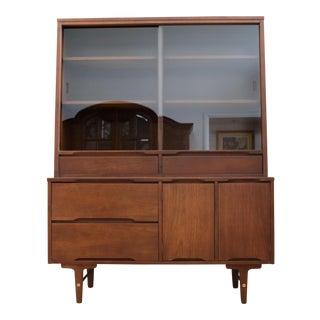 Vintage Stanley Mid Century Modern Hutch China Cabinet