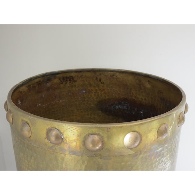 Brass Drum-Style Cachepot - Image 5 of 8