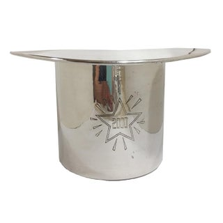Millennium 2000 Silverplate Hat Ice Bucket