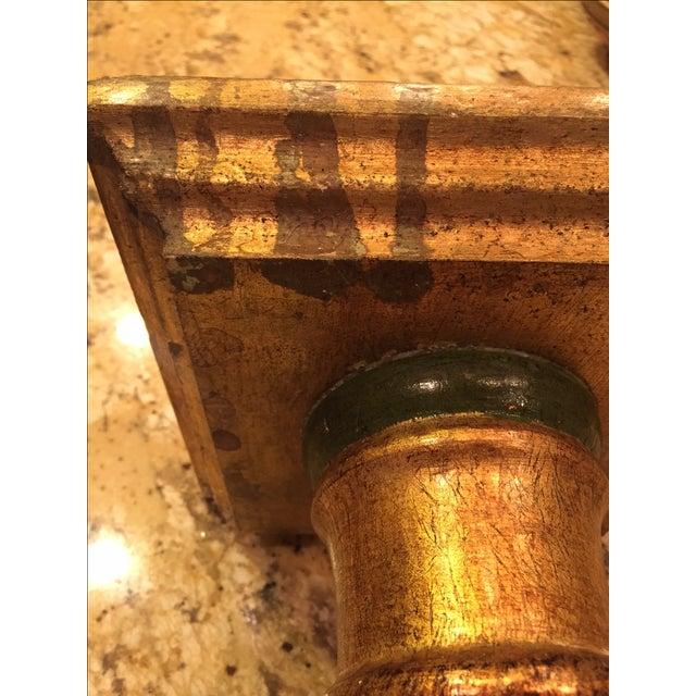 Florentine Green & Gold Italian Pedestal - Image 5 of 8