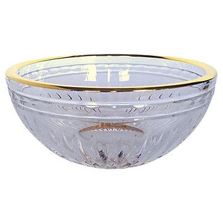 Waterford 24K Gold Banded Crystal Bowl