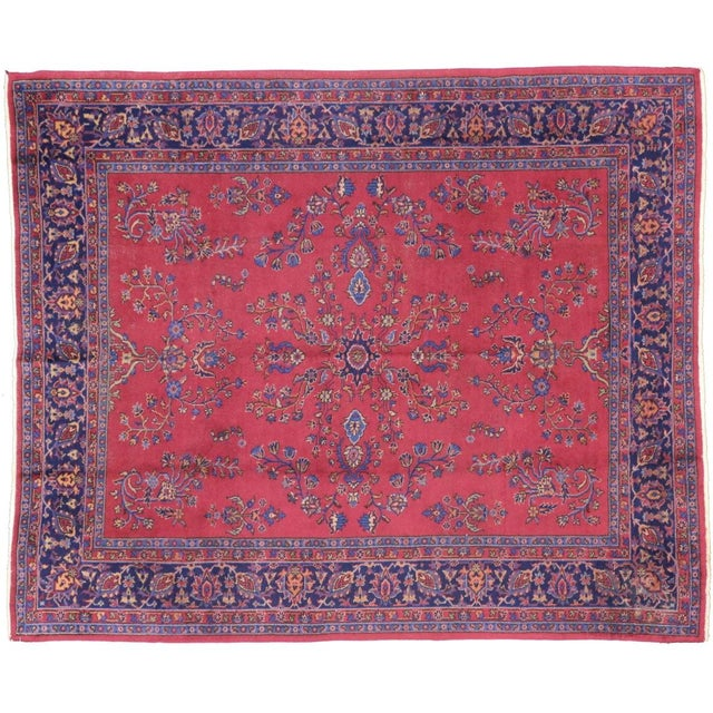 Image of Antique Turkish Sparta Pink Rug - 8' X 9'8""