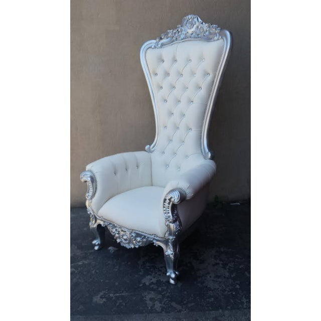 Image of Tall French Throne Wedding Chair