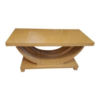 Brown Saltman Art Deco Coffee Table