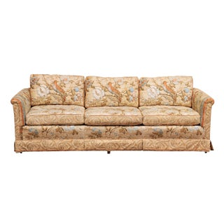Vintage Tuxedo Style Sofa with Chintz Fabric