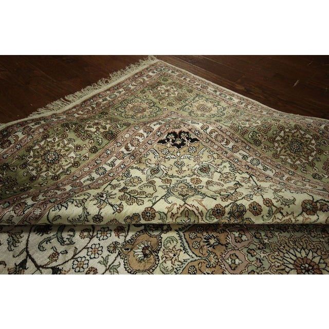 Image of Pure Silk Ivory Hand Knotted Rug - 9'x12'