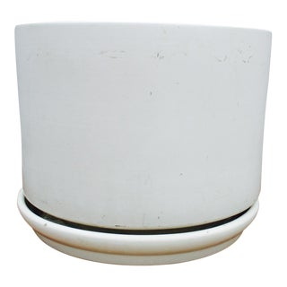 Mid-Century Off-White Ceramic Planter Gainey Style Architectural Pottery