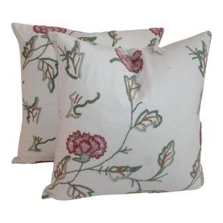 Crewel Work Pillows - A Pair