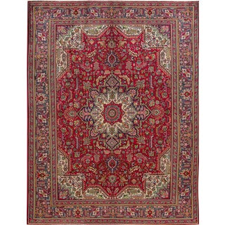 "Apadana Vintage Persian Rug - 9'4"" x 10'2"""