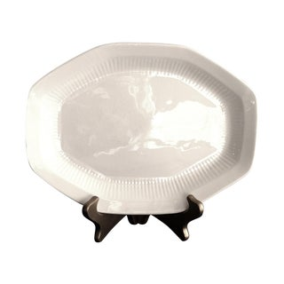 White Oval English Serving Dish