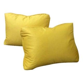 Yellow Jim Thompson Silk Pillows - A Pair