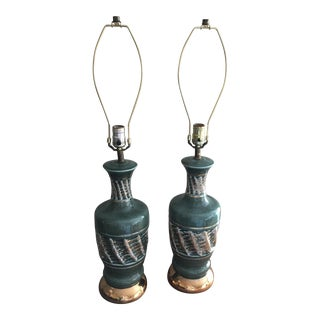 Vintage Mid Century Lamp Bases - a Pair