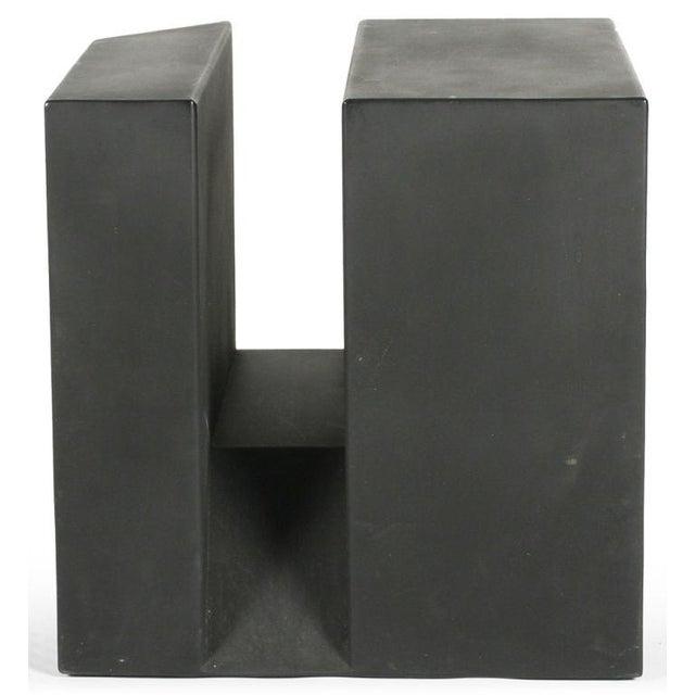 "Image of ""Black Cube"" Aluminum Sculpture by Alfredo Halegua"