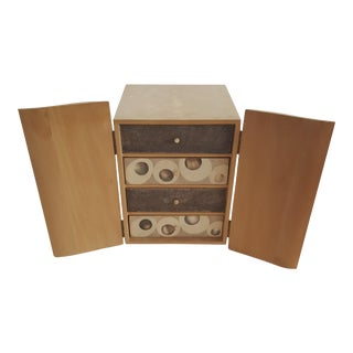 R & Y Augousti Wood & Shagreen Jewelry Box