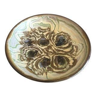 Glazed Clay Studio Art Bowl