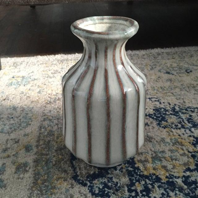 Image of Mid-Century Modern Glazed Pottery Vase