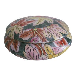 Chinese Floral Porcelain Lidded Bowl