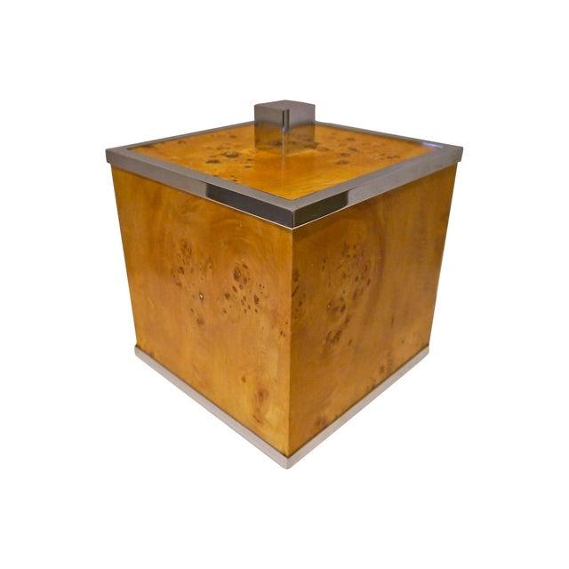 Burlwood and Chrome Italian Ice Bucket - Image 1 of 7